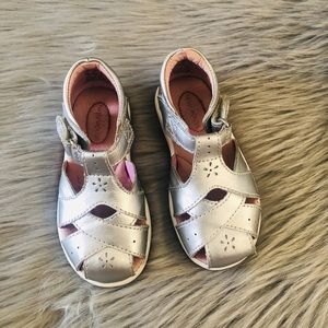 Silver S.R tulip sandals